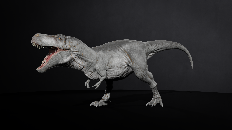 Tyrannosaurus rex with a grey skin