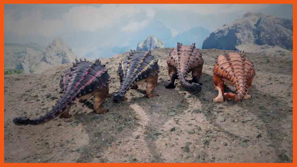 Four dinosuars