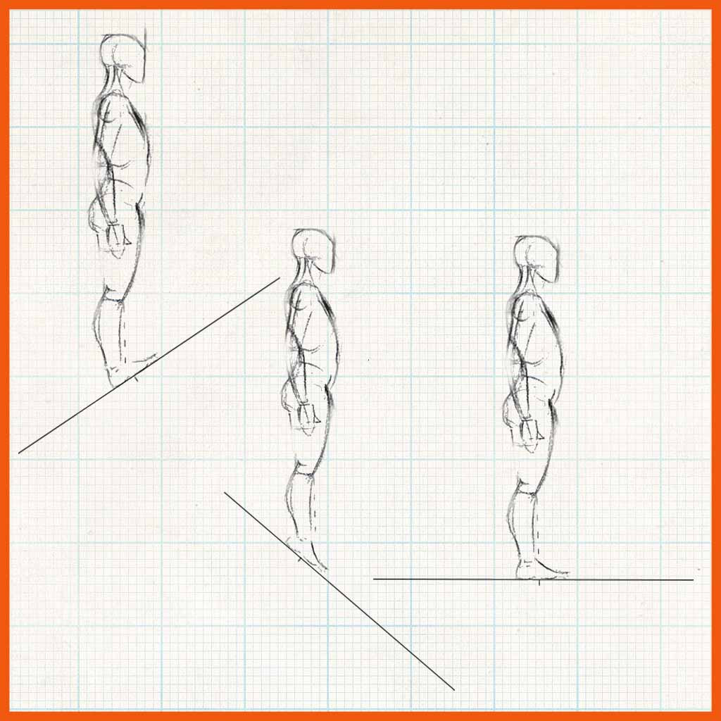 Demo showing human character standing on slopes